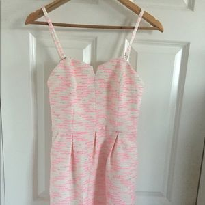 Anthropologie pink tweed dress size 2 - New
